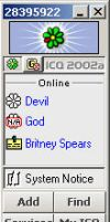 My ICQ Contact List by drahomira
