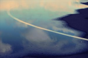 Line In A Puddle by LovieLovetree