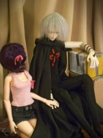 Haruka and Karasu as BJDs 2 by erin-c-1978