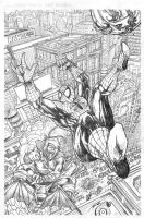 Spidey and Hobby -Pencils by BillDinh