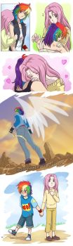 RainbowDash+Fluttershy by HazuraSinner