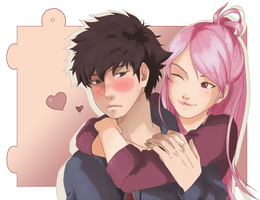 Fire Emblem : Lon'qu and Avatar by Muyami54