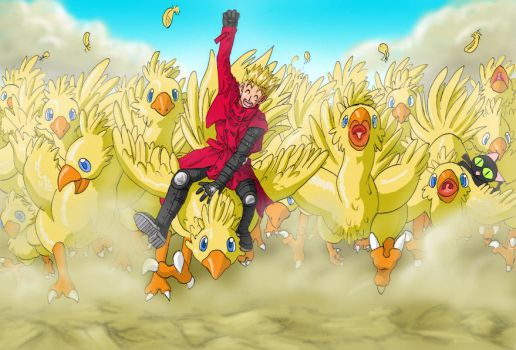 Vash the Stampede. Literally. by Risachantag