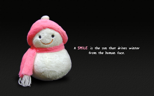 Snowman smile wp by kybrdgal