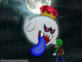 Luigi and King Boo by Princesa-Daisy