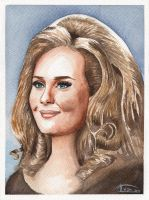 Adele watercolor by IvanJovanovic