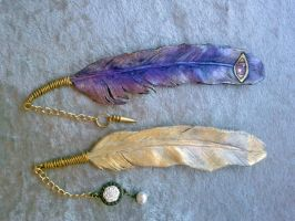 Angel Feather Bookmarks 9-2011 by Angelic-Artisan