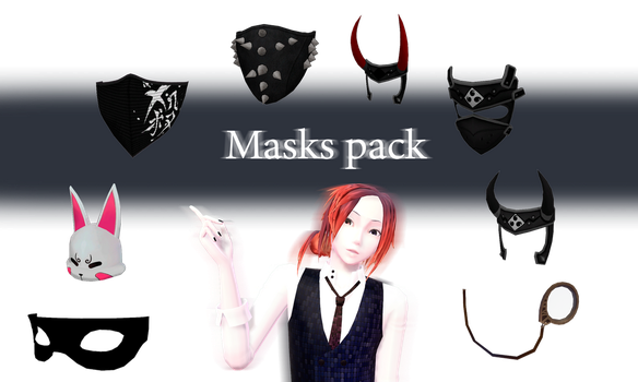 [MMD] Masks Pack - DL by JoanAgnes