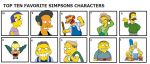 My Top 10 Favorite Simpsons Characters by hmcvirgo92