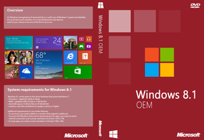 Windows 8.1 OEM Cover (Unofficial) by joostiphone