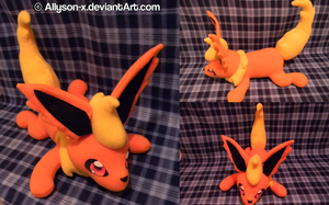 Flareon Plushie by Allyson-x