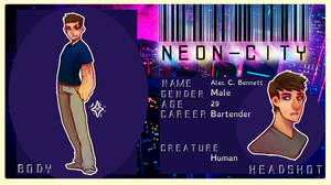 Alec C. Bennett - N-eon city App by Captain-By-Moonlight