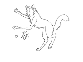 FREE Happy Wolf lineart by Faustina13