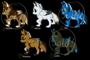 Daimon canine puppy adopts! (OPEN) by wave-line