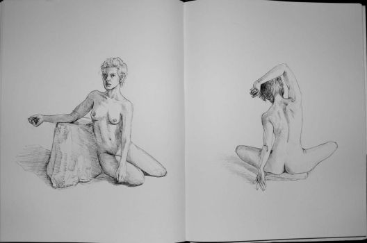 Sketchbook Figure drawings by immobileFreedom