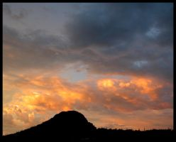 Lemon Accented Sunset Clouds by RooCat