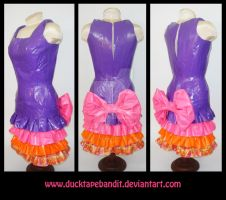 Duct Tape Ruffle Dress by DuckTapeBandit