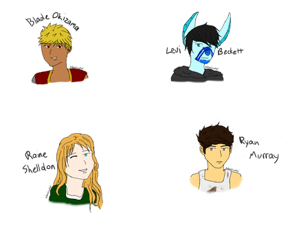 OC Headshots by AshenCrystal