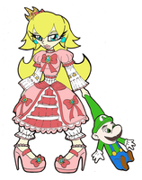 Peach and Luigi Doll by Prepare-Your-Bladder