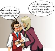 Ace attorney: personal space by Samantai