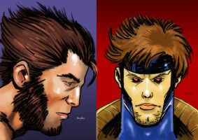 Gambit Wolvie Cards by Lightning-Powered