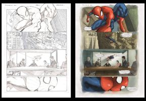 Spidey_vs_Hulk_colored by CleverBlue