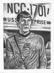 Mr SPOCK black + white by Bungle0
