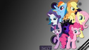 Wallpaper brony by Mauakron