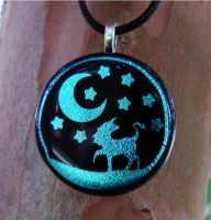 Enchanted Night Fused Glass by FusedElegance