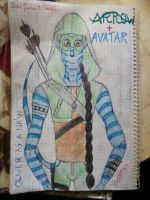 Oliver Queen as a Na'vi by MrsCromwell