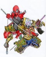 Deadpool VS Yoshimitsu by triple-cafe-mocha