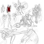 DMC and Bayonetta sketches by pandatails