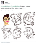 What animal is Markiplier by MystikMeep