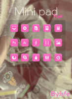 Skin for xwidget Minipad Pink by Isfe