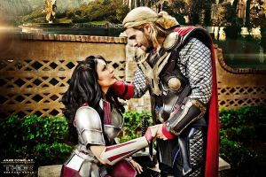 THOR AND SIF COSPLAY by captainjaze