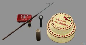 misc. items from Silent Hill Downpour. by Mageflower