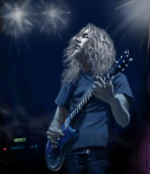 heavy metal guitarist painting by tianyi