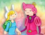 Art Trade: Fiona and Prince Gumball by JeffrettaLyn
