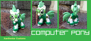 Computer Pony Blindbag Custom by XantheStar