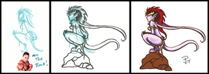 Demona drawing Process by FrozenDreamer