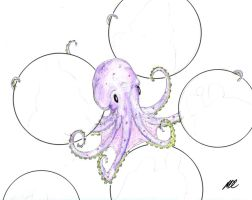 """Octopus Watercolor """"Octopus 2"""" by MDC-PRODUCTIONS"""