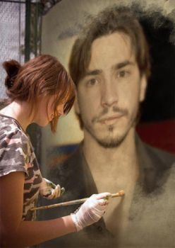 painting Justin Long by ShakilovNeel