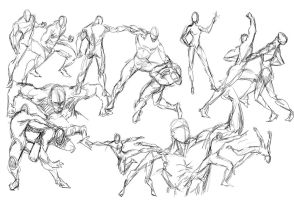 Gesture Drawing by caananwhite