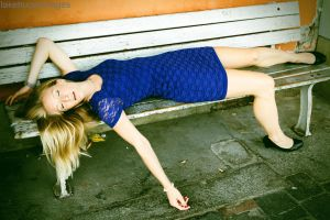 Passed out on a bench by lakehurst-images