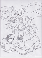 Sonic vs Shadow by DarkImpetus