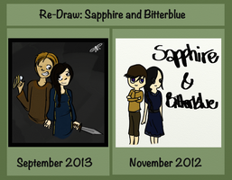 Re-Draw: Sapphire and Bitterblue (Fanart) by pixel-Inked