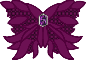 Dark Saturn Butterfly Bow by Iggwilv