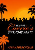 Corrie party flyer by S-clusive