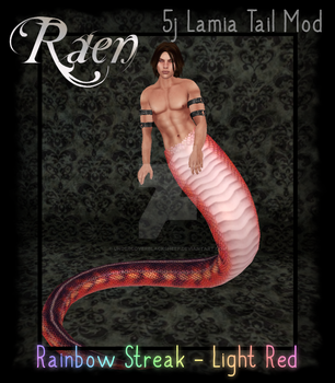 Lamia Mod -Rainbow Streak- Light Red by AriasLi