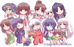 InuYasha Chibi Collection by Lady-Suchiko